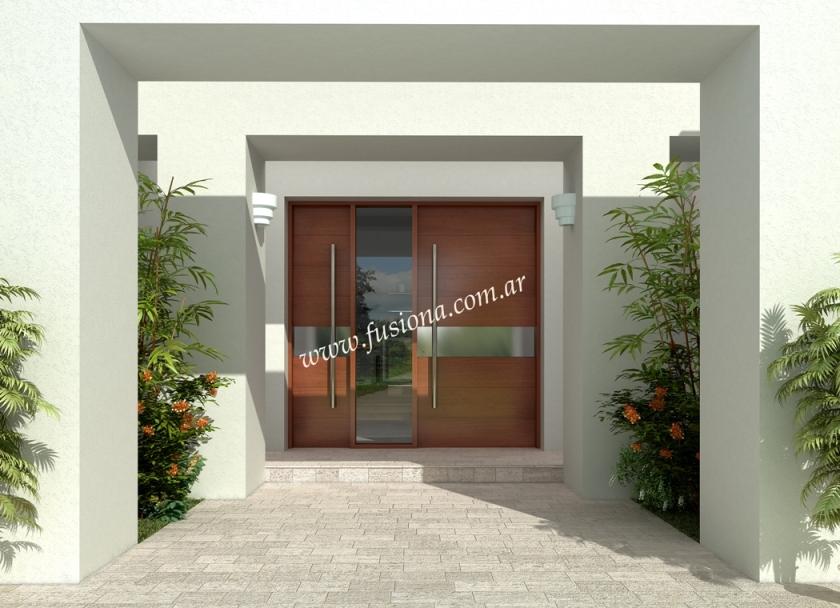 Puertas de entrada modernas de madera maciza modelos for Puertas de ingreso principal casas