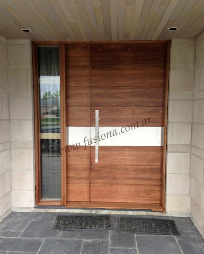 Mas modelos de puertas de entrada modernas de madera for Puertas en casas modernas