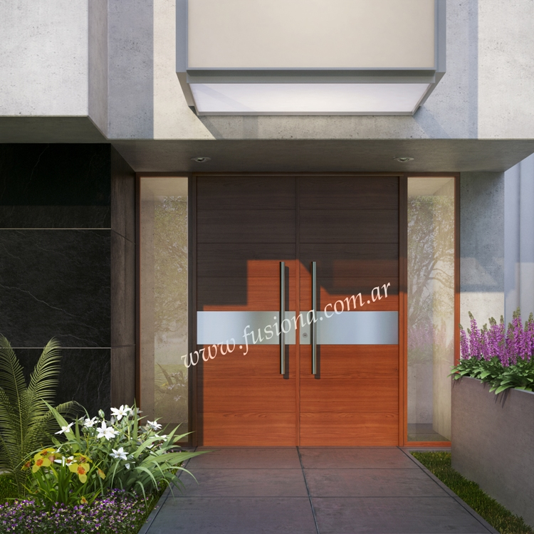 Mas modelos de puertas de entrada modernas de madera for Puertas de entrada de madera baratas