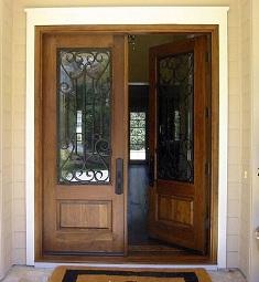 Puertas de entrada de madera maciza puertas de frente - Puertas dobles de interior ...