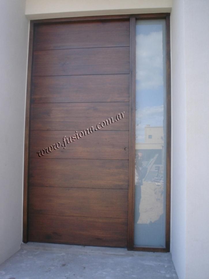 Puertas madera principales modernas quotes for Puertas de madera modernas