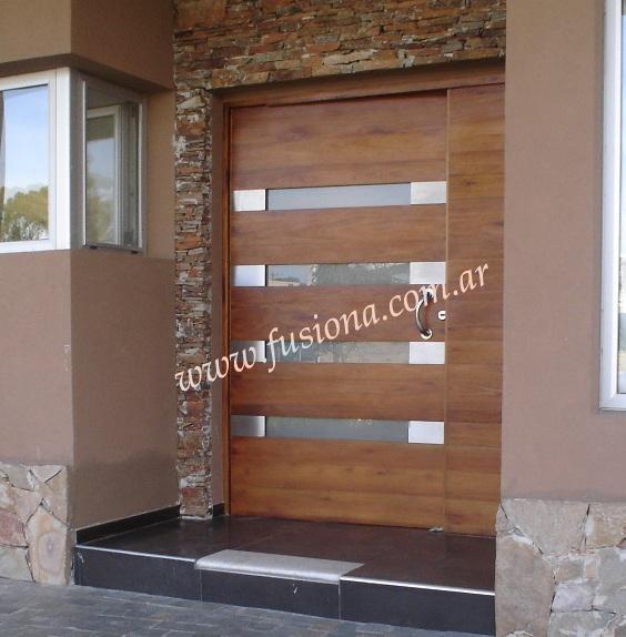 Modelos de puertas entrada modernas madera maciza diseos for Puertas de entrada para casas modernas