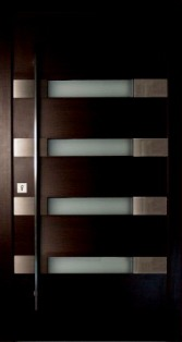 Puertas de madera de l nea moderna for Puertas de ingreso principal modernas