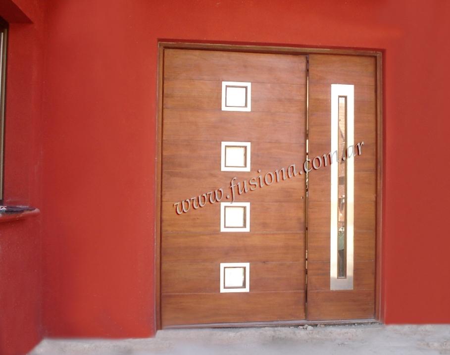Puertas de entrada de madera modernas great lens puertas for Puertas de entrada de madera modernas