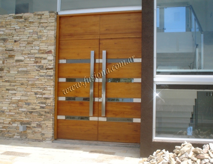 Mas modelos de puertas de entrada modernas de madera for Imagenes de puertas de madera modernas