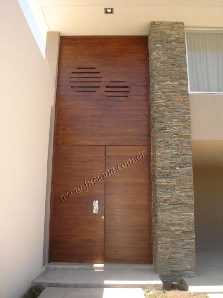 Mas modelos de puertas de entrada modernas de madera for Puertas de entrada de madera modernas