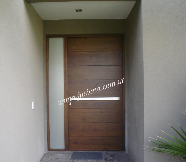 Mas modelos de puertas de entrada modernas de madera for Disenos de puertas de madera modernas