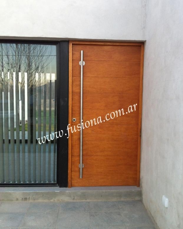 Mas modelos de puertas de entrada modernas de madera for Puertas ingreso madera