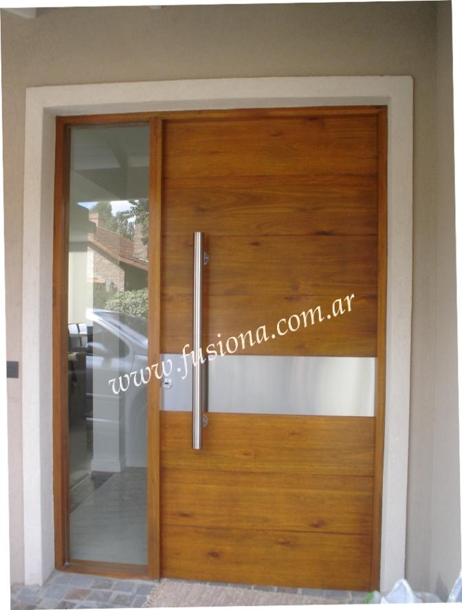 Mas modelos de puertas de entrada modernas de madera for Puertas entrada madera maciza precios